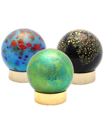 Glass Sphere Keepsake Urn