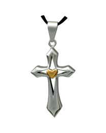 Cross My Heart Premium Stainless Steel Cremation Jewelry