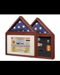 flag and certificate display military memorial