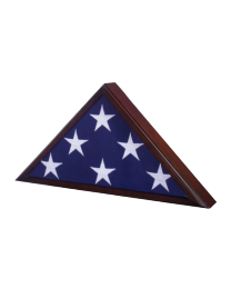 Veteran Flag Case available in gunmetal, oak or cherry finish