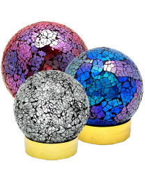 Mosaic Glass Sphere Urn