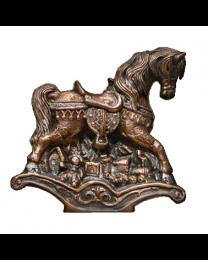 Rocking Horse Bronze Sculpture Urn