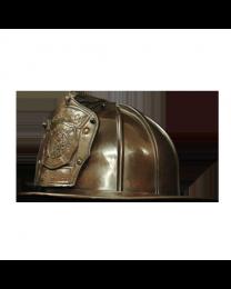 Firefighter Helmet Bronze Sculpture Urn