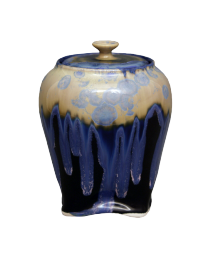 Blue Crystalline II Sharing Urn