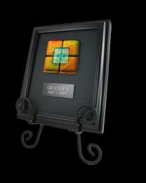 Memorial Glass: Classic Framed Tile, Easel Option