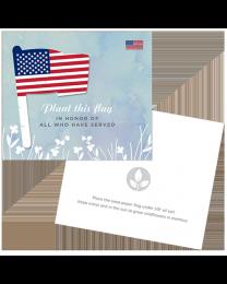 Patriotic Seed Paper Memorial Cards + Envelopes