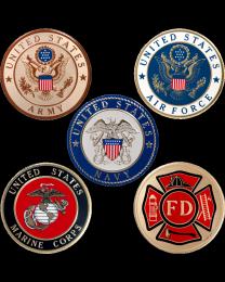 Military Service Urn Medallion