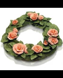 Floral Ceramic Memorial Wreath