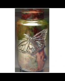 Grace and Elegance Butterfly Raku Urn