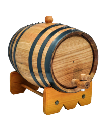 Handcrafted American White Oak Barrel Urn