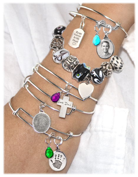 memorial jewelry bracelets and charm ideas