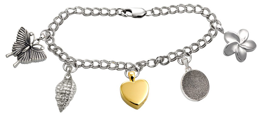 Cremation Jewelry Charms Added To Bracelet
