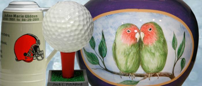custom crafted urns