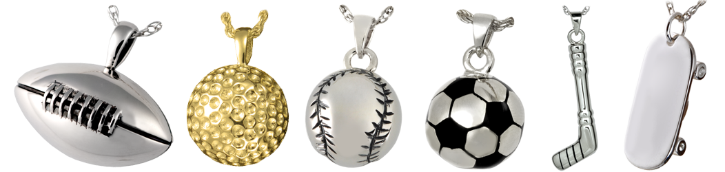 sports cremation jewelry